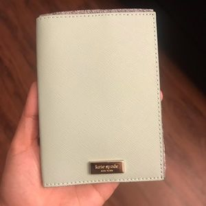 Kate Spade Misty Green Passport Holder